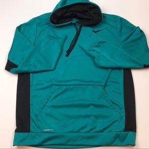 Nike Therma Fit Teal Green and Black Hoodie